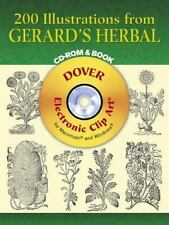 200 Illustrations from Gerard's Herbal CD-ROM and Book Dover Electronic Clip Ar