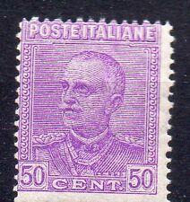 1928 REGNO VITTORIO EMANUELE III LILLA VIOLETTO 50 CENTESIMI INTEGRO C/3796