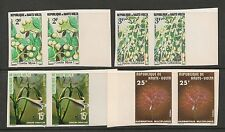 Burkina Faso #423-433 VF MNH IMPERF PAIRS - 1977 2fr to 400fr - Flowers Scarce
