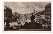 Places Venceslas - Prague Photo Postcard c1910