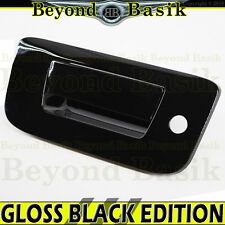 07-13 SILVERADO SIERRA 1500 GLOSS BLACK Tailgate Handle Cover W/KEYHOLE No Cam