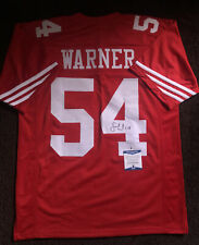 Fred Warner Signed Autographed San Francisco 49ers Jersey BECKETT BAS COA 4
