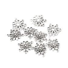 200pc 304 Stainless Steel Rhombus Chandeliers Filigree 1//3 Loop Findings 20x13mm