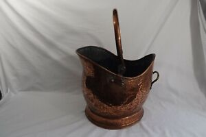 antique copper helmet coal scuttle