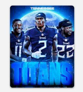 Julio Jones AJ Brown Derrick Henry MAGNET - NFL Tennessee Titans Die Cut Vinyl
