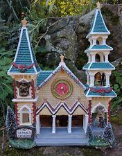 Christmas  LED light up Porcelain House Xmas Church Ornament Decoration Display