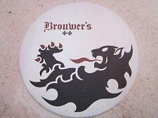 Beer Breweriana Coaster ~*~ BROUWER'S Cafe Craft Brews ~*~ Seattle, WASHINGTON