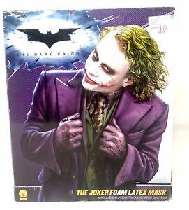 Joker Mask & Green Wig Adult Mens The Dark Knight Halloween Costume Fancy Dress