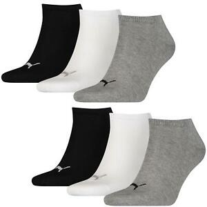 Puma Socks 6 Pair Invisible Sneakers Trainers Unisex (2x 3er Pack) Sizes 35-46