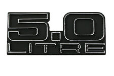 HOLDEN 5.0 LITRE - BADGE & FASTENERS - BOOT/TAILGATE - HJ HX HZ - LX TORANA