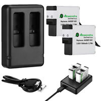 AHDBT-501 Li-ion Battery + USB Dual Charger For GoPro HERO 5 HERO 6 Black Camera