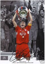 STEVEN GERRARD - LIVERPOOL AUTOGRAPH SIGNED PP PHOTO POSTER