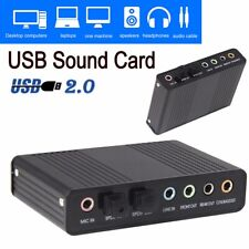 External USB 5.1/6 Channel SPDIF Optical Digital Sound Card Audio Adapter for PC