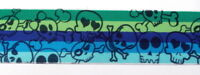 Gummiband 2,55 Euro/m Breite 4cm aqua grün blau Totenkopf
