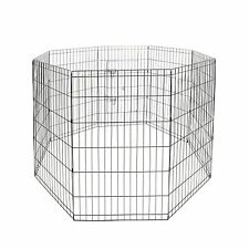 """24"""" Tall  Animal Pet Dog Puppy Cat Folding Play Pen Exercise Cages Crates Fence"""