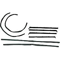 1980-1993 Dodge Ram Truck, Ramcharger Door Window/Felt Weatherstrip Seal Kit 8pc