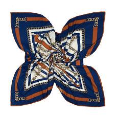 """Women's Fashion Twill Silk Square Scarf Printedf Leather Belt Shawl Wrap 51""""*51"""""""