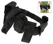 Pouch System 7pcs Tactical Quick Release Men Security Army Utility Patrol Belt