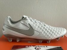 "Nike Tiempo Legend 8 Pro FG ""White Silver"" AT6133-100 Mens Size 12 Soccer Cleats"