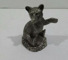 The Bear Cub by Jane Lunger Franklin Mint Pewter The Woodland Animals 1981