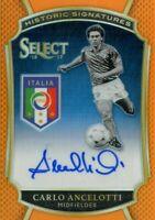 2016-17 Select Historic Signatures Orange #9 Carlo Ancelotti Auto /60