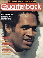 1976 (Jan.) Pro Quarterback Football magazine, O.J. Simpson, Buffalo Bills ~ VG