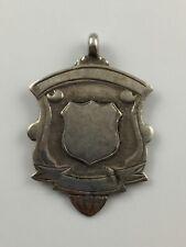 Hallmarked Silver Fob Medal Blank Birmingham, 1938