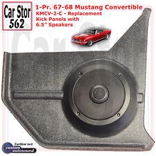 "Custom Autosound KMCV-2-COM Kick Panels&6.5"" Speakers 67-68 Mustang Convertible"