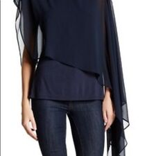 NWT HAUTE HIPPIE brand new with tags $265 aysmetrical blouse the last word sz L