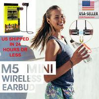Wireless Bluetooth Sport Gym Headphones Earphones Earbuds Headset with MIC Bass