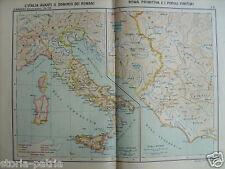 ITALIA PREROMANA_LAZIO_ANZIO_UMBRIA_ABRUZZO_OSTIA_ARDEA_MAPPA GEOGRAFICA_LOCCHI
