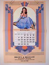 """ELVGREN PINUP CALENDAR """"Lavender Lovely"""" 1989 SAMPLE 1957 BROWN BIGELOW ADV ORIG"""