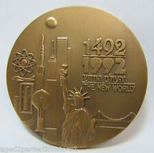 State of Israel Bronze Paperweight Medallion New World Through paths of the seas