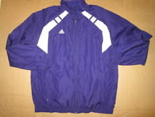 Mens Adidas athletic full zip mesh lined windbreaker jacket L Lg