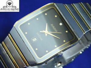 RADO DIASTAR 129.0266.3 SILVER GOLD DATE MEN'S VINTAGE WATCH SWISS MADE QUARTZ