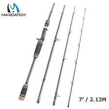 Cebo Casting Rod 7' maxcatch 4-20lbs 4 piezas gatillo Grip Caña de pescar