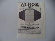 advertising Pubblicità 1963 LAVATRICE ALGOR