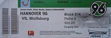 TICKET 2011/12 Hannover 96 - VfL Wolfsburg