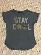 Girls Kids Stay Cool T-Shirt GEMS & JETS SIGNORELLI Youth M Medium 10 Made In US