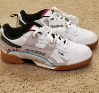 MEN'S REEBOK Workout Plus Ati 90S Shoes DV5494 White Black NEW Size 8.5