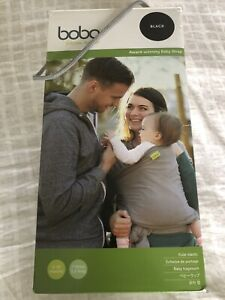 BOBA baby wrap, sling, carrier & carry bag -100% Cotton - Black. Boxed, Exc Cond