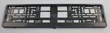 Kennzeichenhalter Kennzeichenhalterung 3D schwarz/silber glänzend Carbon Optik