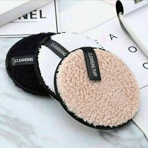 Reusable Microfiber Cloth Makeup Face Cleansing Pads Remover Towel UK SELLER