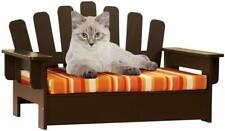 Wooden Cat Dog Pet Sofa Bed Adirondack Chair Reversible Cushion Furniture Raised