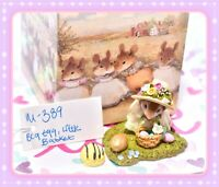 ❤️Wee Forest Folk M-389 Big Egg, Little Basket Easter Girl Mouse Retired 2009❤️