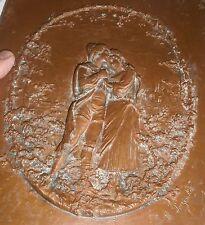 Léon PERZINKA : Tableau médaillon en bas-relief - Cuivre ou bronze patiné