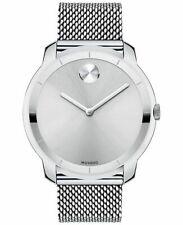 Movado Swiss Bold Stainless Steel Mesh Bracelet Men's Watch 44mm (3600260)