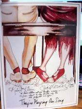 1979 They're Playing Our Song Lucie Arnaz signed Poster Card GACCI Robert Klein