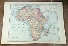 """circa 1880s colour fold out map titled """" africa """""""