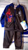 New Size 24 Months Boys Outfit Marvel Spider-Man 100% Polyester Hoodie & Pants